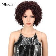 Чудо афро кудрявые синтетические парики для черных женщин волны