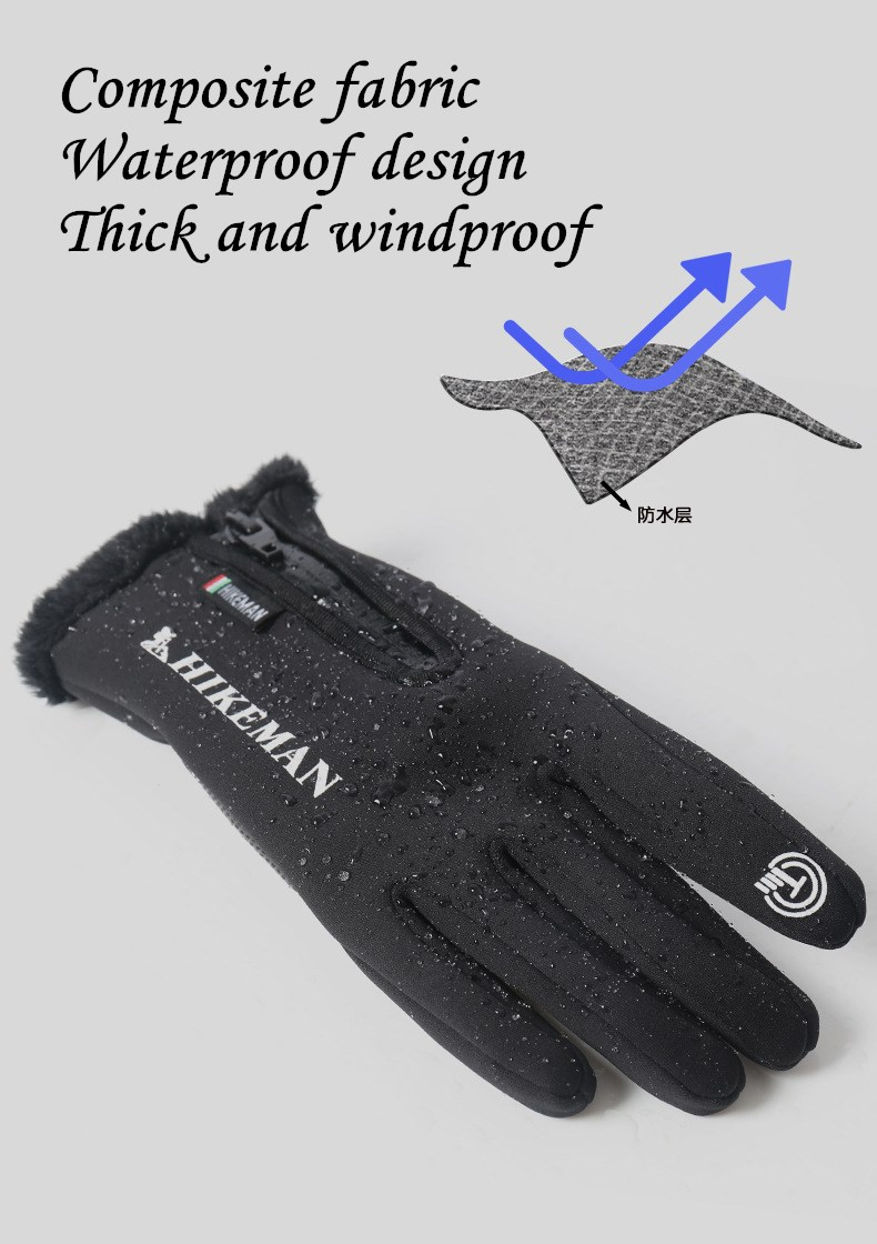 CUHAKCI Waterproof and Windproof Touch Screen Gloves for Men and Women Suitable for Operating All Touch Screen Devices during Winter 18