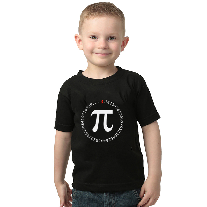 Kids//Youth Creative Math Delicious Pi T-Shirts Short Sleeve Children Tees