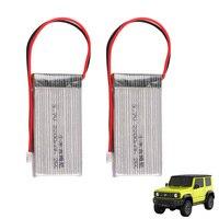 2 / 4/6/Uds RC Lipo batería de 3,7 V 2200mAh 25C max 35C para Suzuki Jimny 1/16 coche Rc vehículo Off-Road de aleación de coche de control remoto en miniatura