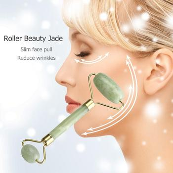 Natural Facial Beauty Massage Tool Jade Roller Face Thin Relax Massager Body SPA Massage Roller Facial Jade Stone Anti-aging image