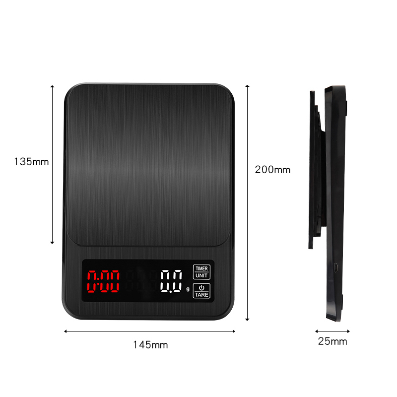 Tools : Digital Kitchen Scale Electronic Drip Coffee Scale With Timer Precision postal Food Diet scale for Cooking Baking Measure Tools