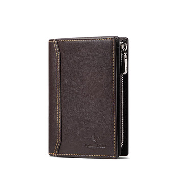 WilliamPolo Men Wallet mens slim Credit Card Holder Bifold Genuine Leather mini Multi Card Case Slots Vegetable tanned cowhide williampolo 2019 men wallet short bifold credit card holder genuine leather organizer slim multi card case business casual purse