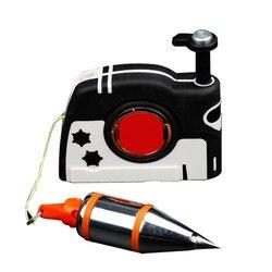 Plumb Bob Setter magnetyczny plumb rite z 3/6/4.5/8M Auto reviling Cord szybko stabilizujący Bob ZJ55 w Zewnętrzne narzędzia od Sport i rozrywka na