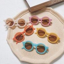 Kids Sunglasses Goggle Shades-Eyewear Frame Round Vintage Color Girls Boys Child Elbru