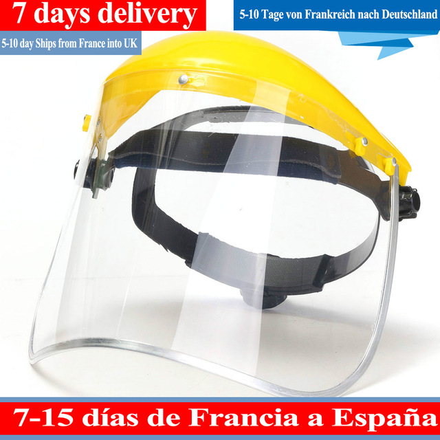 Protective MaskTransparent PVC Safety Anti-Saliva Dustproof  Faces Shields Screen Spare Visors Respiratory tract Protection