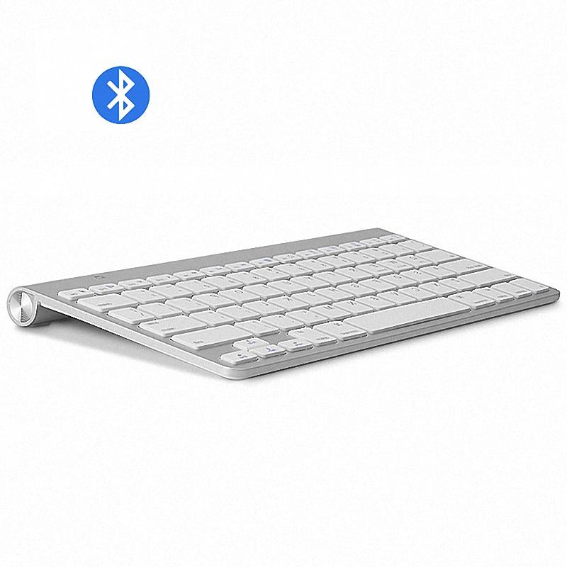 Ультратонкая клавиатура Bluetooth высокого качества, бесшумные планшеты и смартфоны для Apple, беспроводная клавиатура, стиль IOS, Android, Windows