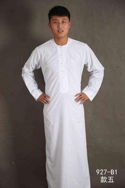 الملابس الإسلامية الرجال رداء طويل الأكمام العربية قفطان الإسلام فستان عربي الرجال المملكة العربية السعودية ازياء مسلم كورتا باكستان الهندي 4