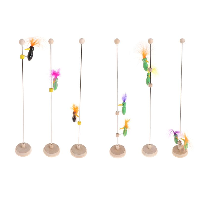 Funny Woodpecker Poles Vintage Retro Classic Toy Wood Toy Sliding Kids Toy Gift