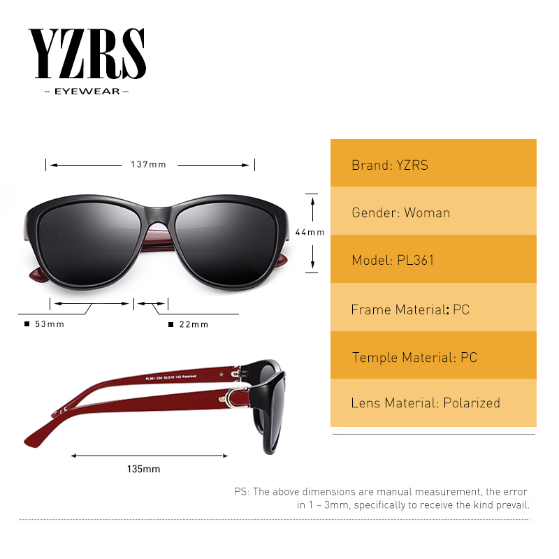 YZRS Brand Retro Polarized Sunglasses Women Vintage Plastic Women 39 s Summer Sun Glasses Driving Shades Fashion Eyewear in Women 39 s Sunglasses from Apparel Accessories
