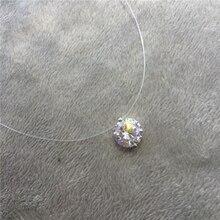 Ожерелье-чокер с невидимой рыбьей линией, Кристальное ожерелье, подвеска на шею, циркониевая Женская цепочка на шею, женский воротник