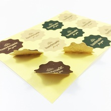 120pcs/lot Flower pattern Polygon Round Kraft Paper handmade for you Seal Sticker Handmade Products Scrapbooking
