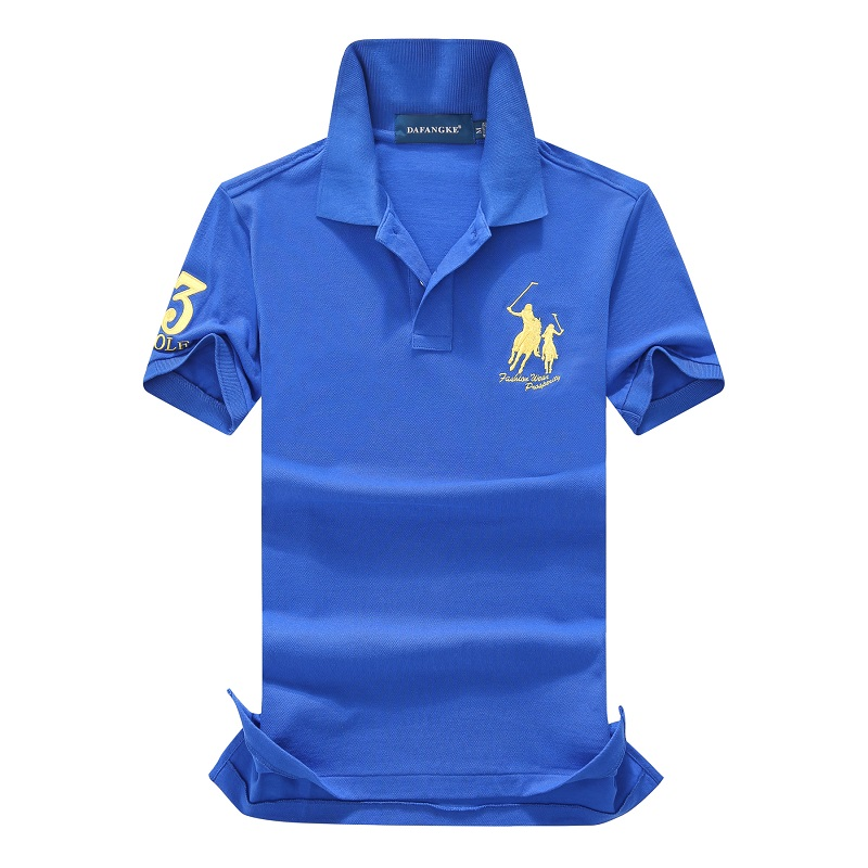 Men's Polo Shirt 100% Cotton Brand Embroidery Golf Tops Casual High Quality Solid Short Sleeve Polos EUR Size S-2XL;GA200