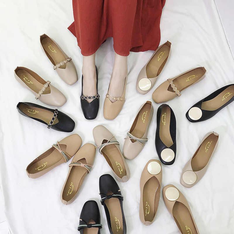 Kadın Loafer'lar Flats Moccasins Ayakkabı Plaj Alışveriş Kadın deri ayakkabı Daireler Kayma kadın düz ayakkabı zapatos mujer Moda