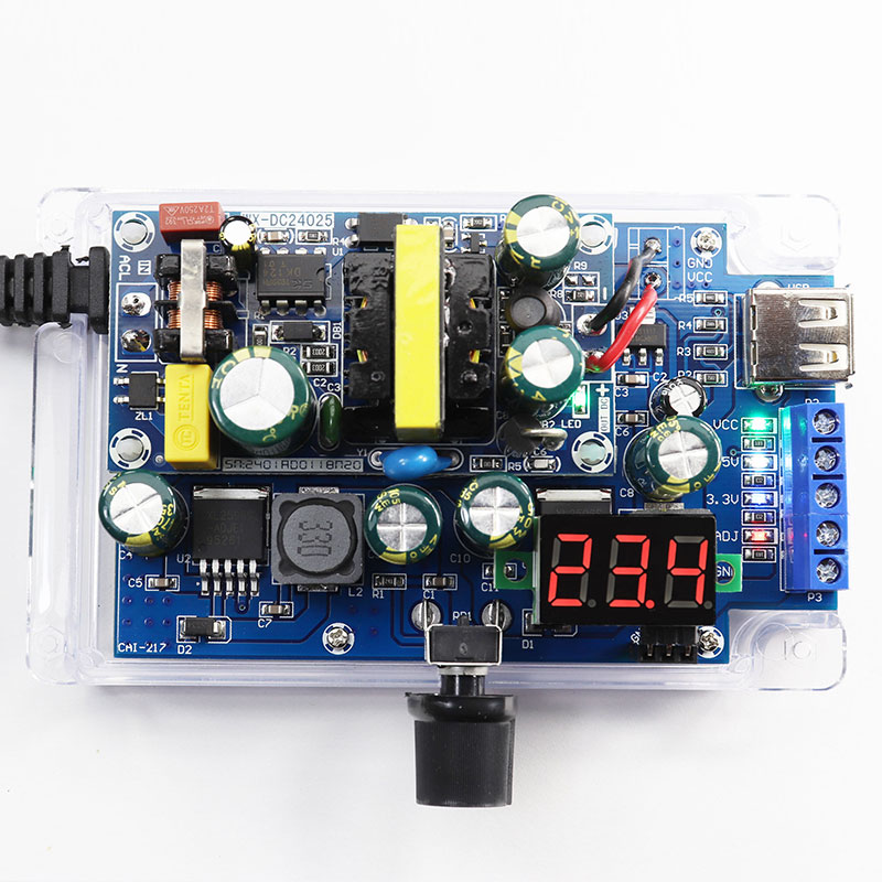 1SET Adjustable DC Stabilized Power Supply For DIY Production Kit Power Supply Electronic Experiment 24V12V1A