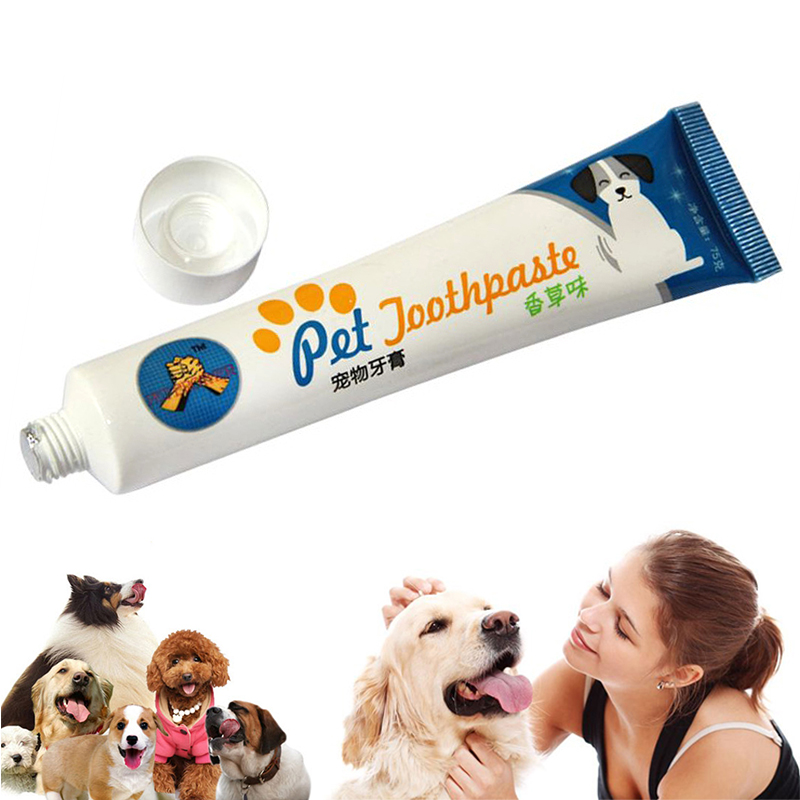 Dog Toothpaste Toothbrush Four Set Remove Bad Breath Dog Cats Mouth And Teeth Cleaning And Care Supplies TXTB1