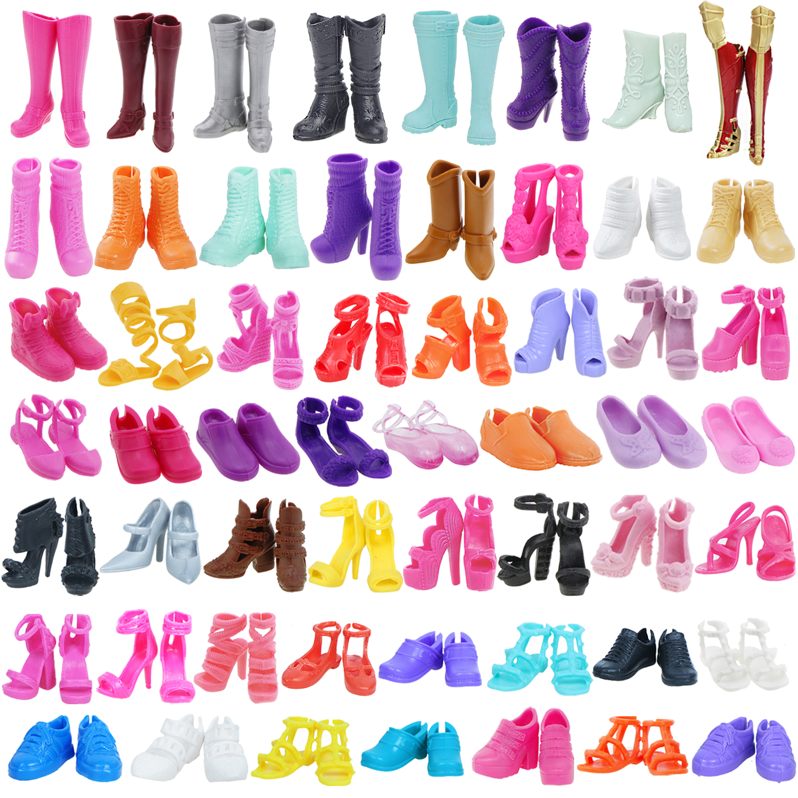 High Heels Flat Shoes Winter Boots Summer Sandals Doll Sport Shoe Daily Casual Sneakers DIY Accessories For Barbie Doll Girl Toy