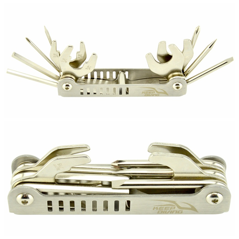 11 In 1 Multi Tool For Repairing Stainless Steel Adjusting Scuba Diving Diver Diver Regulator  Tools GMT601