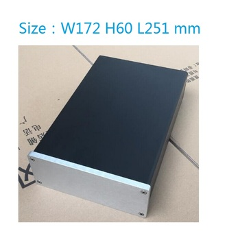1706 DAC Amplifier Case Aluminum Chassis Power Supply DIY Case Size(mm): W172 H60 L251