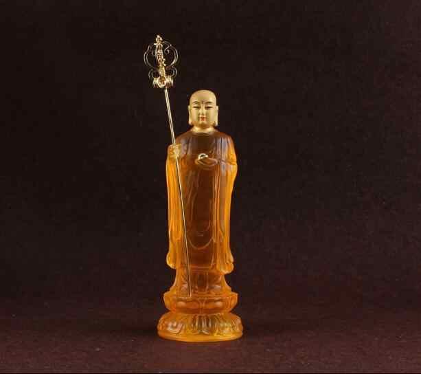 Resina de cobre satue, feito à mão, ksitigarbha bodhisattva, pequenas estátuas, pode ser instalar tibete, estátua de buda, estatueta do budismo