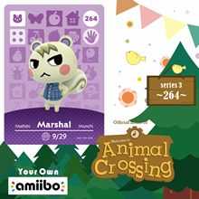 쭈니 Marshal Animal Crossing Marshal Amiibo 264 동물 교차점 스위치 Rv Welcome Amiibo Villager New Horizons Amiibo 카드 시리즈 3(China)