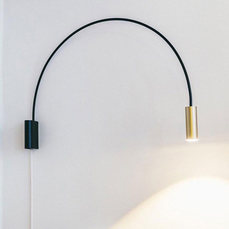 nordice  light led wall light rope living room  bedside bedroom  espelho home deco