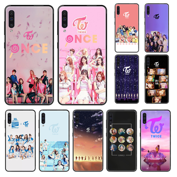 Singer Twice Phone case For Samsung Galaxy A 3 5 8 9 10 20 30 40 50 70 E S Plus 2016 2017 2018 2019 black tpu back soft funda image