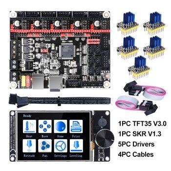 BIGTREETECH SKR V1.3 32 бит плата + TFT35 V3.0 сенсорный экран + 5 шт. TMC2208 TMC2209 UART TMC2130 spi части 3d принтера MKS SGEN gen L