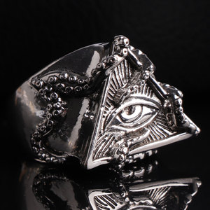 Crusoe Myth Deep Sea Gaze Men's Ring Punk Accessories Party Jewelry Christmas Gift(China)