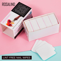 ROSALIND Lint-Free Napkins Nail Wipes Degreaser For Nail Art Nails Remover Manicure Wipes Gel Polish Remove Cotton 250Pcs/Lot