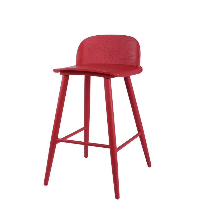 Nordic Designer Book Bar Chair Simple Creative Bar Chair Modern Back Bar Stool High Stool