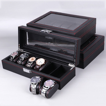 1 PC PU Leather Watch Box High Quality High End Jewelry Storage Box Wholesale Factory