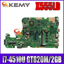 FOR ASUS X555LD X555LN K555L F555L Laptop motherboard I7-4510U 4GB RAM REV.2.0 G