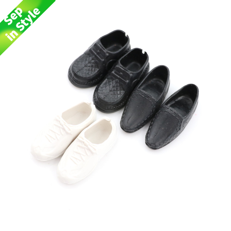 3Pairs/set Fashion Doll Shoes Heels Sandals For Ken Dolls/ Doll Best Gift Doll Accessories High Quality Baby Toy