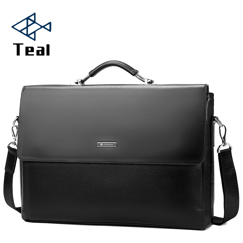 2020 Fashion Business Leather Men Briefcase Laptop Handbag Tote Casual Man Bag For Male Shoulder Bag Male Office  Messenger Bag