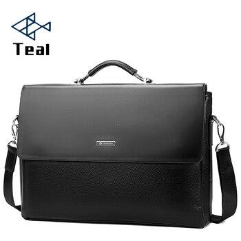 2020 Fashion Business Leather Men Briefcase Laptop Handbag Tote Casual Man Bag For male Shoulder Bag Male Office  Messenger Bag