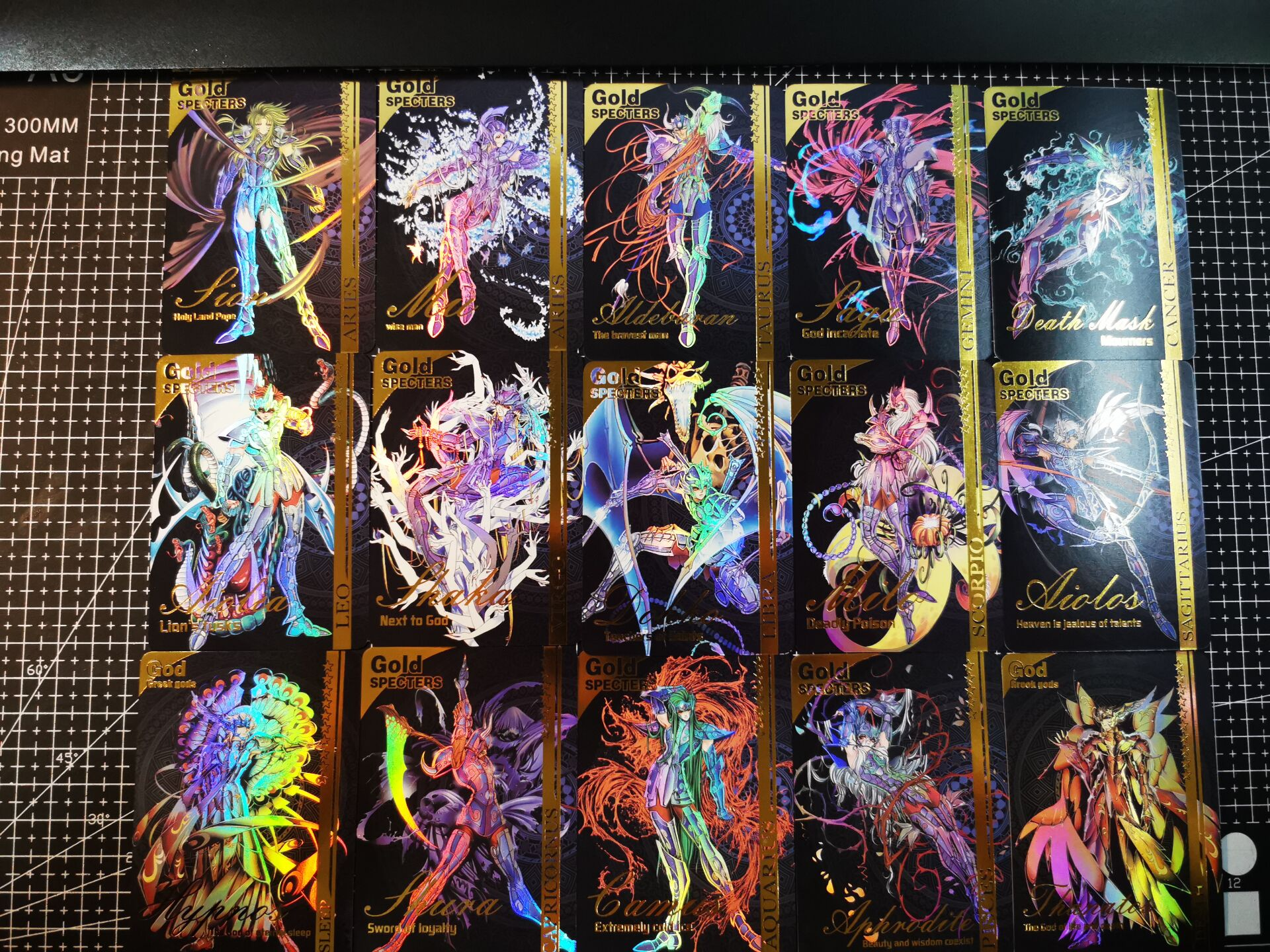 15pcs/set Saint Seiya Holy Color 7 Conclusion Toys Hobbies Hobby Collectibles Game Collection Anime Cards
