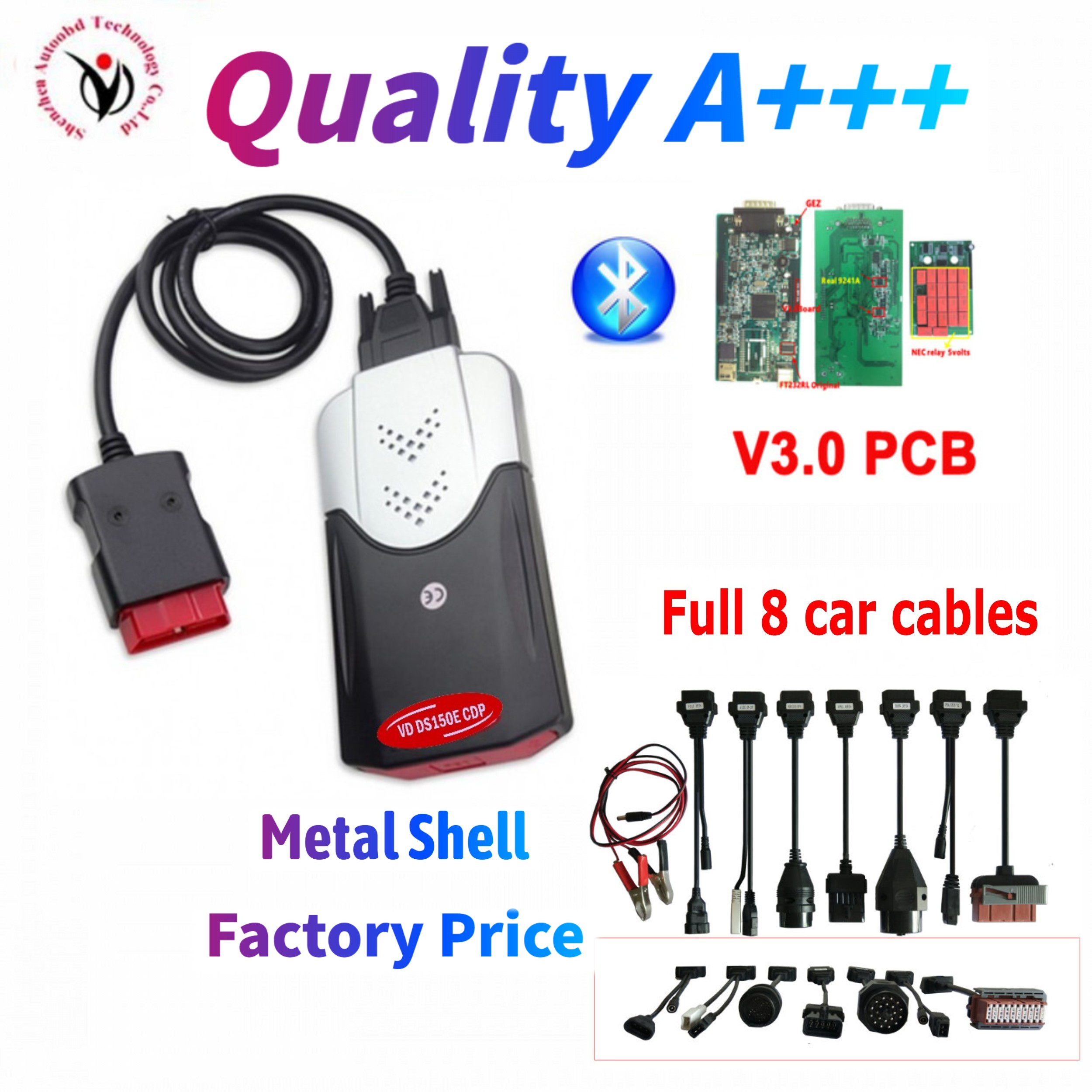 2020 NEW VCI VD DS150E CDP With Bluetooth Best V3.0 New Relays 2016 Keygen Diagnostic Tool For Delphis OBD2 Cars Trucks Scanner
