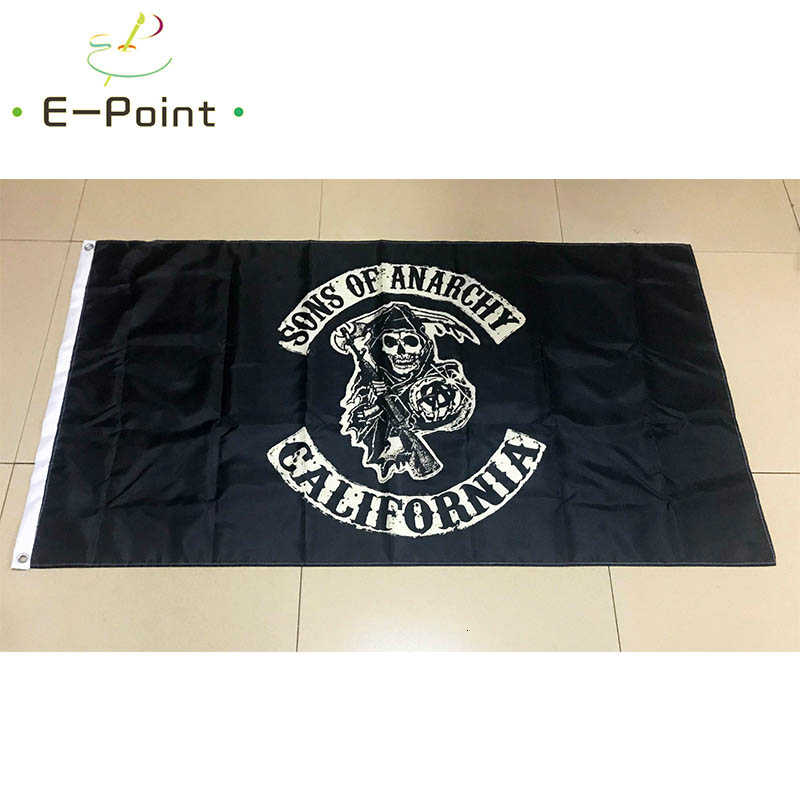 Sons of Anarchy California Bandiera 2ft * 3ft (60*90cm) 3ft * 5ft (90*150cm) Formato Di Natale Decorazioni per la Casa Bandiera Banner Regali