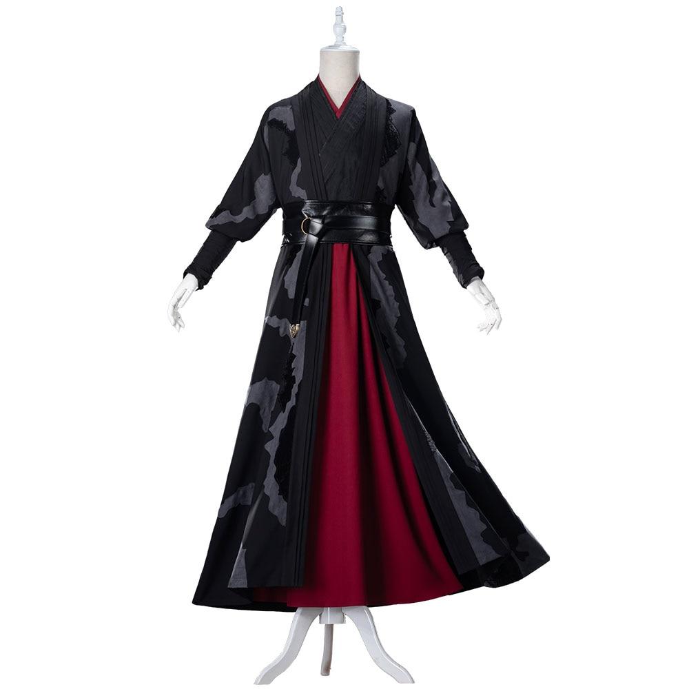 Mo Dao Zu Shi Wei Wuxian exquis grand maître de Costume de Cosplay démoniaque adulte Style chinois Wei Ying Hanfu vêtements de Cosplay - 5
