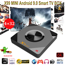 X99 Mini Android 9.0 Smart Wifi TV Box Quad Core 64-bit 4GB