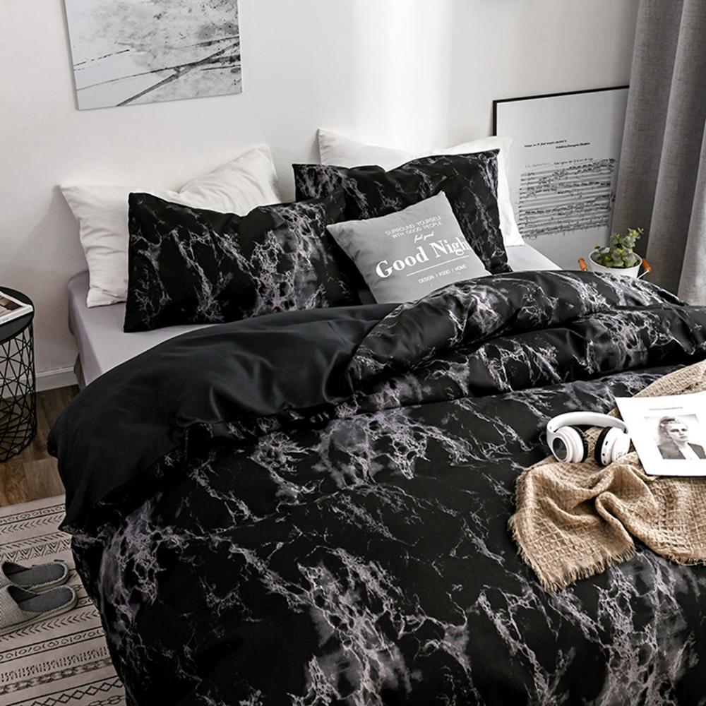 2 3pcs king size home textile brief nordic bedding set men women bed linen cover pillowcase sheet duvet cover with pillowcase