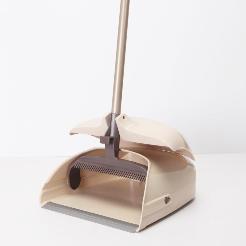 2019 Fashion Yocada Windproof Broom And Dustpan With Adjustable Handle Anti-skid Device For Kitchen Home Lobby Office House Cleaning Limpid In Sight