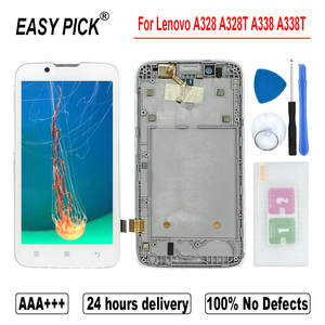 Image 2 - For Lenovo A328 A328T A338 A338T LCD Display Touch Screen Digitizer Assembly Replacement With Frame With Tools