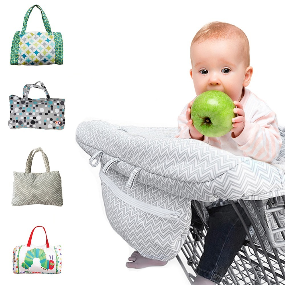 Multifunctional baby foldable shopping cart covering baby shopping cart safety seat child safety seat
