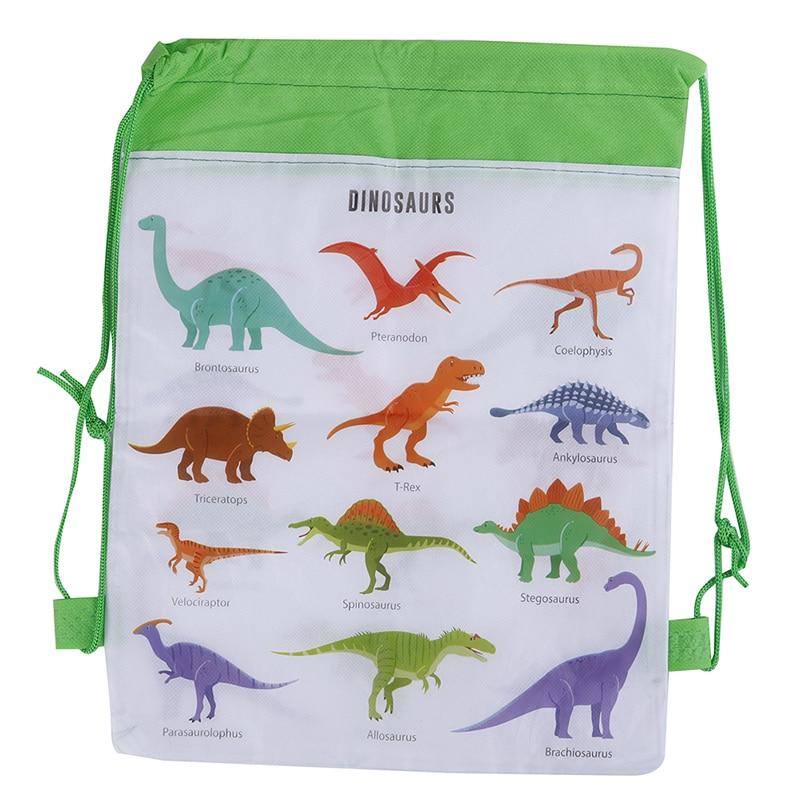 5PCS Cute Cartoon Dinosaur Drawstring Bags Baby Clothes Clothings Children Organizer Pouch Laundry Bag Kids Drawstring Backpack