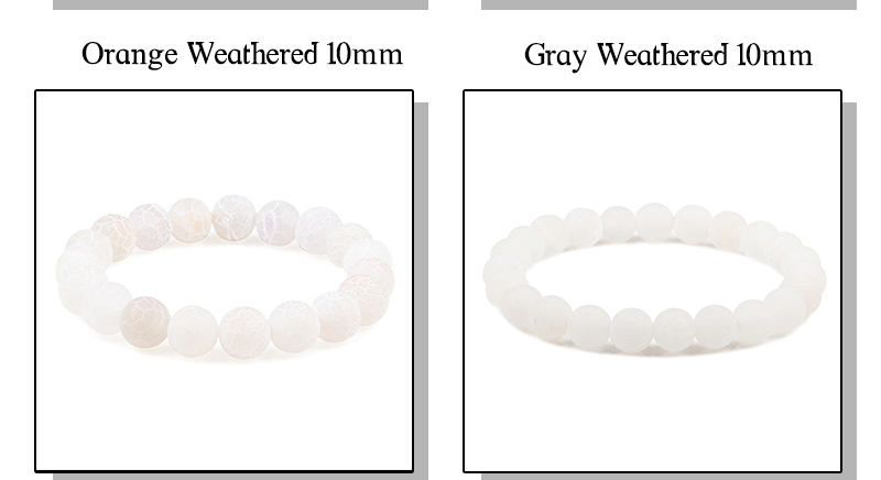 Bracelet pierre naturelle perles 10 mm | oko oko