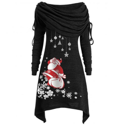Long Sleeve Casual Print Dress Women Nightmare Before Christmas Dress Plus Size S-5XL Womens Clothing 2019 SJ4626V 5