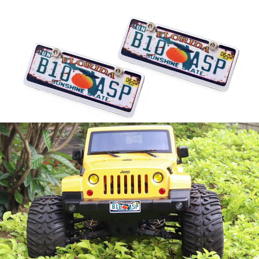 1:10 Scale RC Drift Japanese Mini Plastic Number License Plates Pair Car