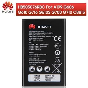 Image 1 - Оригинальный запасной аккумулятор HB505076RBC для телефона Huawei A199 G606 G610 G610S G700 G710 G716 C8815 Y610 Y3 ii, Аккумулятор 2100 мАч